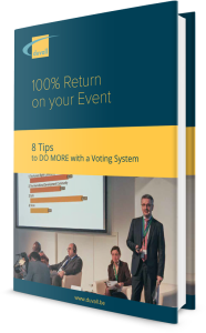"Cover of the free e-book ""8 tips to do more with a voting system"""