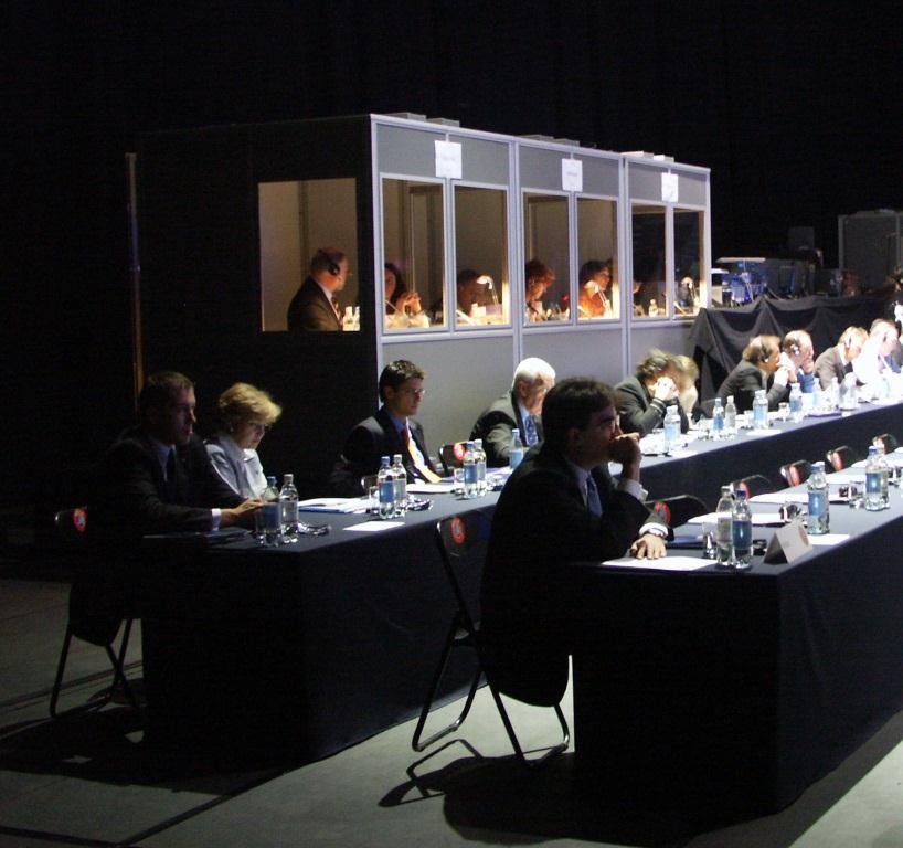 UEFA congress interpreter booths Estonia