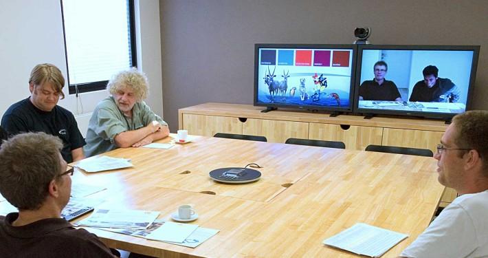 Foto van de ruimte voor videoconferentie in Merelbeke