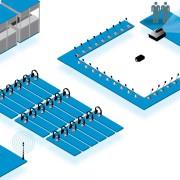 Diagramma van een opstelling ter illustratie bij de vraag 'Wat is simultaanvertaling'