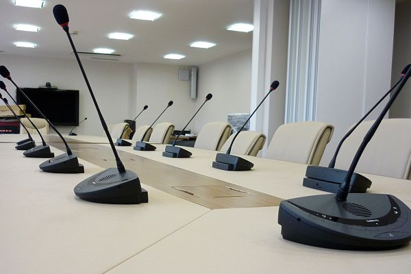 Draadloos conferentiesysteem Confidea - Toepassing