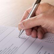 Hoe uw evenement evalueren: foto van een evaluatieformulier