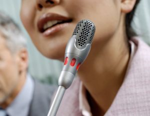 Microphone included when rent digital conference system