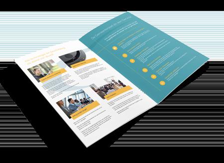 """Opengevouwen informatiebrochure """"Gemeenteraad als een service"""" van duvall"""
